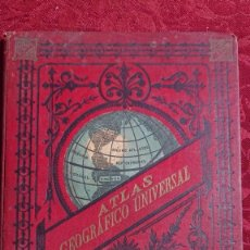 Livros antigos: ATLAS GEOGRAFICO UNIVERSAL POR ESTEBAN PALUZIE - BARCELONA - 1896 -. Lote 287645863