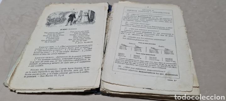 Libros antiguos: Precioso libro de Gramàtica Española segundo grado. Editorial F.TD - Foto 7 - 288416223
