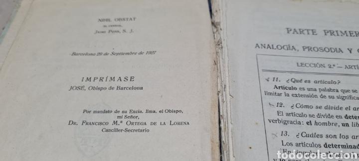 Libros antiguos: Precioso libro de Gramàtica Española segundo grado. Editorial F.TD - Foto 11 - 288416223