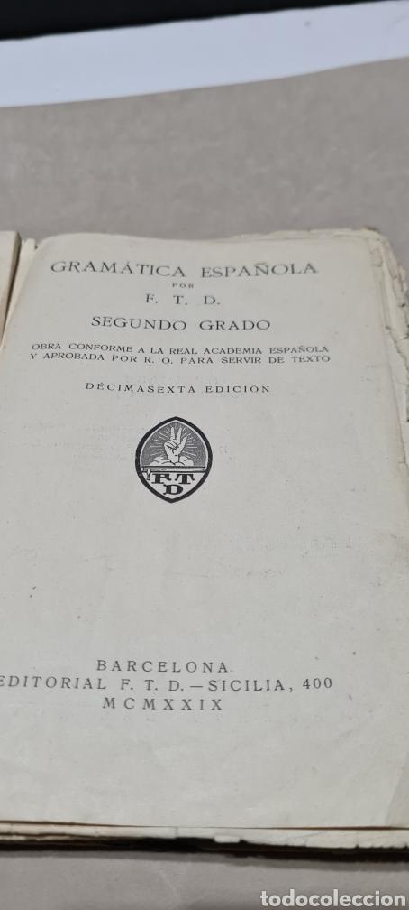 Libros antiguos: Precioso libro de Gramàtica Española segundo grado. Editorial F.TD - Foto 12 - 288416223