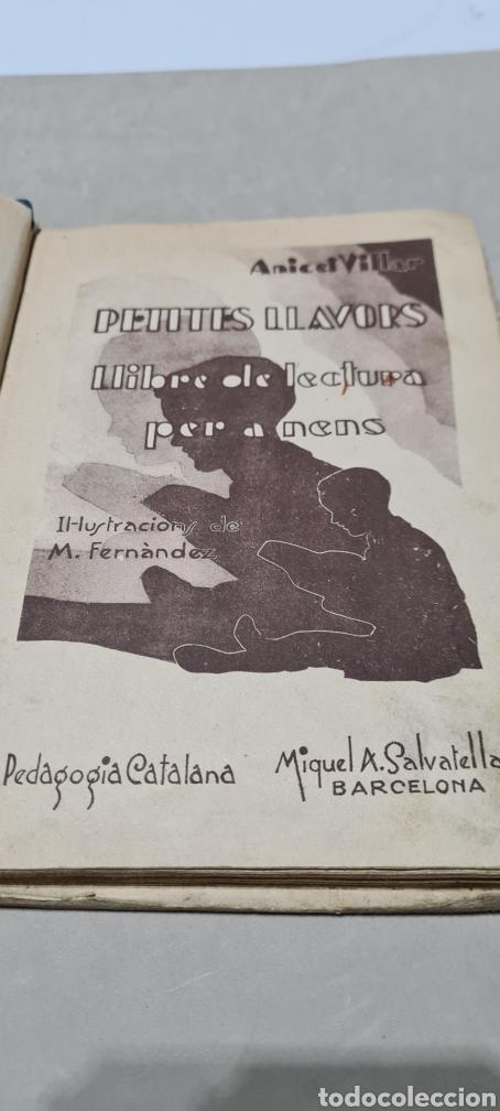 Libros antiguos: Preciosa libro de lectura en catalán. Petites llavors. Anicet Villar. Miquel A. Salvatella. - Foto 7 - 288417263