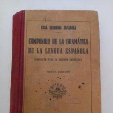 Libros antiguos: COMPENDIO DE LA GRAMÁTICA DE LA LENGUA ESPAÑOLA.. Lote 288633728