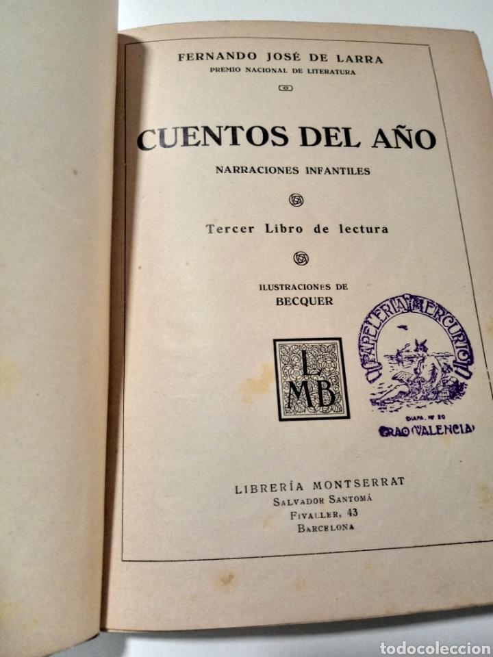Libros antiguos: CUENTOS DEL AÑO. FDO J DE LARRA - Foto 3 - 288972108