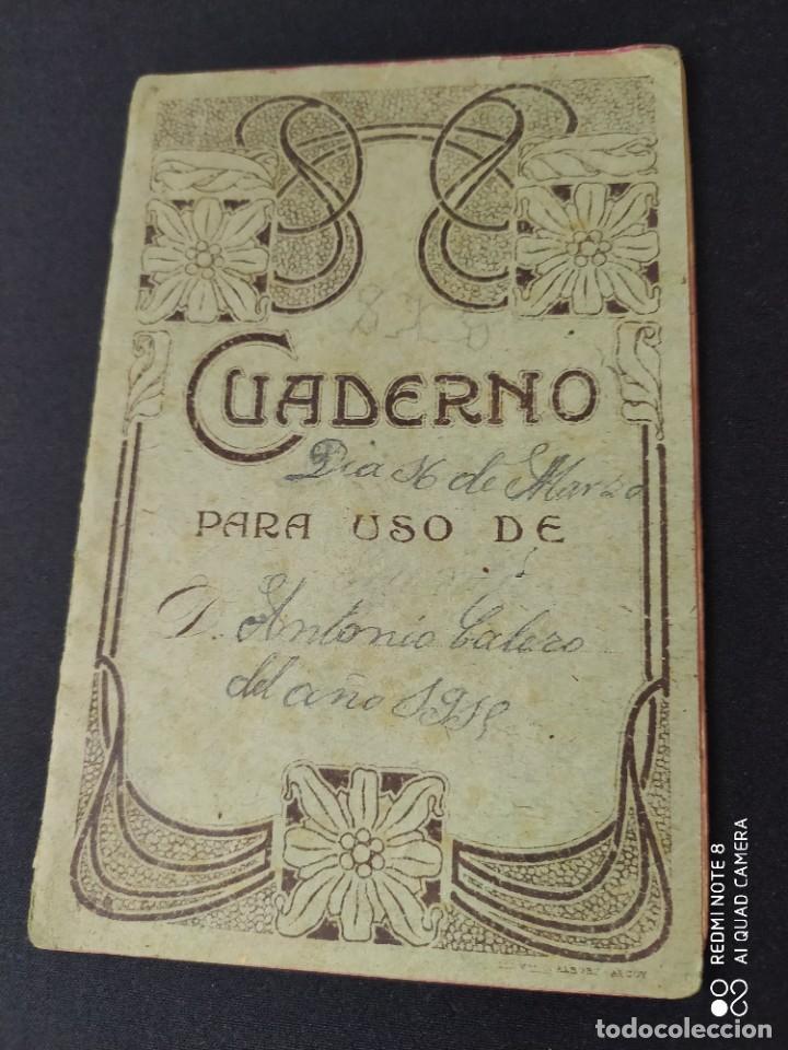 CUADERNO PARA USO AÑO 1918 (Libros Antiguos, Raros y Curiosos - Libros de Texto y Escuela)