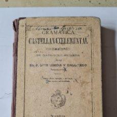 Libros antiguos: LIBRO DE GRAMATICA CASTELLANA ELEMENTAL 1908. Lote 294028048