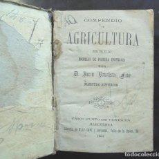 Libros antiguos: COMPENDIO DE AGRICULTURA 1887 JUAN BAUTISTA FITÓ PARA USO DE LAS ESCUELAS DE PRIMERA ENSEÑANZA. Lote 294082848