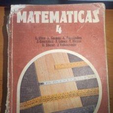 Libros antiguos: MATEMATICAS 4º EGB EDITORIAL ANAYA POR LUIS RICO, A. TOMAS MESAS, OSCAR SAENZ, J.VALENZUELA. Lote 295739708