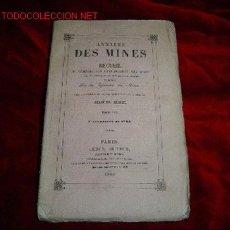 Libros antiguos: ANNALES DES MINES. Lote 784014