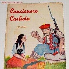 Libros antiguos: ROMERO RAIZÁBAL IGNACIO - CANCIONERO CARLISTA - 1938 SAN SEBASTIÁN 302PP 14X19 RÚSTICA, . DIBUJOS D. Lote 27301855