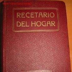 Libros antiguos: RECETARIO DEL HOGAR. DTRA. FANNY. 1.929. Lote 26635378