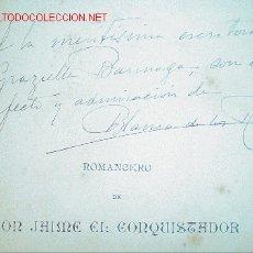 Livres anciens: 1891.- ROMANCERO DE DON JAIME. BLANCA DE LOS RIOS. DEDICATORIA AUTÓGRAFA. Lote 26854722