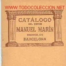 Libros antiguos: CATALOGO GENERAL. Lote 4542945