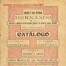 Libros antiguos: CATÁLOGO EDITORIAL. Lote 7314727