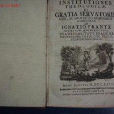 Libros antiguos: GRATIA SERVATORIS, LIBRO AÑO 1758. Lote 11336996