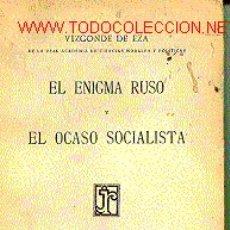 Libros antiguos: ENIGMA RUSO Y EL OCASO SOCIALISTA. (EL). Lote 7175557