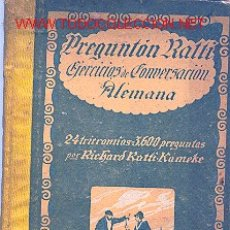 Libros antiguos: EJERCICIOS DE CONVERSACION ALEMANA.. Lote 190275