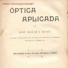 Libros antiguos: 1935. OPTICA APLICADA...858 FIGURAS. Lote 27257858