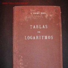 Libros antiguos: TABLAS DE LOGARITMOS,NOVENA EDICION ESTEREOTIPADA AL GALVANISMO Y CONSIDERABLEMENTE AUMENTADA,1932. Lote 12850889