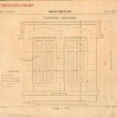 Libros antiguos: 22 LÁMINAS FRANCESAS DE DIBUJO TÉCNICO - S. XIX - . Lote 15099280