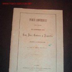 Libros antiguos: 1º ANIVERSARIO DE LA MUERTE DEL DISTINGUIDO NIÑO DON JOSE GALTERO Y NEGROTTO,A LOS 9 AÑOS DE EDAD. Lote 16947282