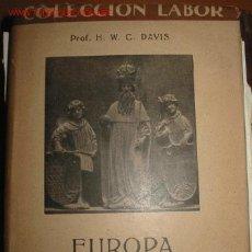 Libros antiguos: HISTORIA DE LA EUROPA MEDIEVAL. 1.934. Lote 27119161