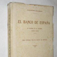 Libros antiguos: EL BANCO DE ESPAÑA, SU HISTORIA EN LA CENTURIA 1829-1929 DE JUAN ANTONIO GALVARRIATO. DED. AUTÓGRAFA. Lote 24627955