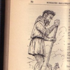 Libros antiguos: ZX RONDAYES MALLORQUINES MALLORCA 1923 AUTOGRAFO DEL AUTOR MOSEN ALCOVER ILUSTRADO F.B.MOLL. Lote 27429082