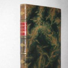 Libros antiguos: FIGULINAS, POR JACINTO BENAVENTE. ENCUADERNACIÓN DE LUJO EN PLENA PIEL CON NERVIOS Y TEJUELOS. 1904. Lote 25210048