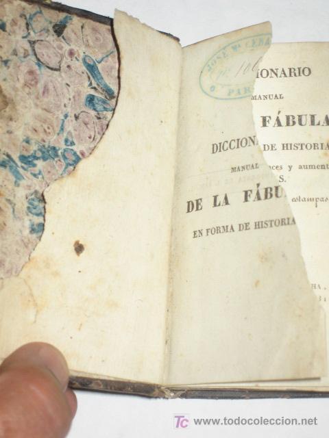 Libros antiguos: Diccionario Manual de la Fábula, en forma de historia, adornado de 16 estampas. Imp. Sancha. 1828 - Foto 3 - 25355290