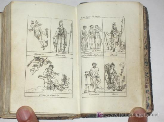 Libros antiguos: Diccionario Manual de la Fábula, en forma de historia, adornado de 16 estampas. Imp. Sancha. 1828 - Foto 5 - 25355290
