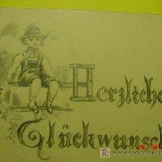 Libros antiguos: 1127 PRECIOSO DIBUJO A LAPIZ AÑOS 1900-20 ALEMANIA GERMANY COSAS&CURIOSAS. Lote 5719292