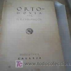 Libros antiguos: ORTODOXÍA - G.K. CHESTERTON. Lote 11066531
