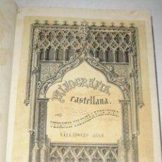 Libros antiguos: PALEOGRAFÍA CASTELLANA, POR VENANCIO COLOMERA Y RODRÍGUEZ. 1862. 1ª EDICIÓN. Lote 25859769