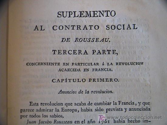 Libros antiguos: SUPLEMENTO AL CONTRATO SOCIAL DE ROUSSEAU APLICABLE A GRANDES NACIONES.IMPRENTA BRUGADA AÑO 1821 - Foto 8 - 3663592
