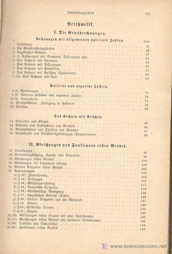 Libros antiguos: AUFGABENSAMMLUNG. Ejercicios de Matemática pura y aplicada. En alemán. Con letra gótica. 1933. - Foto 4 - 26474717