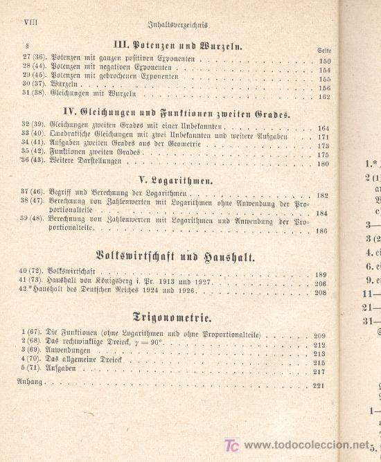 Libros antiguos: AUFGABENSAMMLUNG. Ejercicios de Matemática pura y aplicada. En alemán. Con letra gótica. 1933. - Foto 5 - 26474717