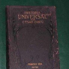 Libros antiguos: CANTÚ: HISTORIA UNIVERSAL. VOLÚMEN X Y ÚLTIMO: DOCUMENTOS: LA LITERATURA DE LAS NACIONES. ÍNDICES.. Lote 20282614