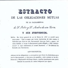 Libros antiguos: MADRID. SACRAMENTAL DE SAN PEDRO Y SAN ANDRÉS. OBLIGACIONES MUTUAS. MADRID, 1841. MADRID. Lote 16831034