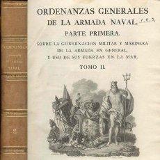 Libros antiguos: 1793 ORDENANZAS GENERALES DE LA ARMADA NAVAL. Lote 11772235