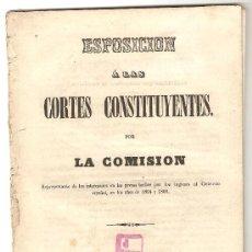 Libros antiguos: ESPOSICIÓN A LAS CORTES CONSTITUYENTES POR LA COMISIÓN (TEMA LOCAL CÁDIZ). Lote 29986377