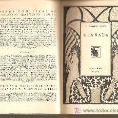 Libros antiguos: GRANADA .-GREGORIO MARTÍNEZ SIERRA / (TEMA LOCAL). Lote 9308046