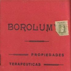 Libros antiguos: REVISTA MÉDICA. BOROLUMY. PROPIEDADES TERAPEUTICAS. CONTRA LA EPILEPSIA.. Lote 12953212