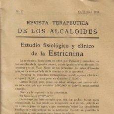 Alte Bücher - REVISTA MÉDICA. REVISTA TERAPEUTICA DE LOS ALCALOIDES. Nº 57, OCTUBRE DE 1912. - 12953234