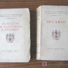 SELECCION DE ELOCUENCIA E HISTORIA por Juan Vázquez de Mella - IDEARIO 1931