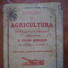 Alte Bücher - catecismo de agricultura de saturnino calleja año de 1886. 136pgs libro de 10x15 - 27573995