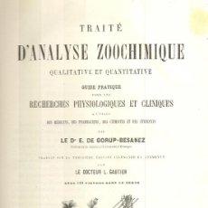 Libros antiguos: TRAITÉ D´ANALYSE ZOOCHIMIQUE QUALITATIVE ET QUANTITATIVE. E. GORUP-BESANEZ, 1875. Lote 18384064