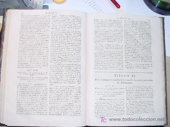 Libros antiguos: AÑO 1805.- LAS LEYES DE ESPAÑA. MANDADA FORMAR POR CARLOS IV. ¡IMPRESIONANTE OBRA! - Foto 5 - 27139359