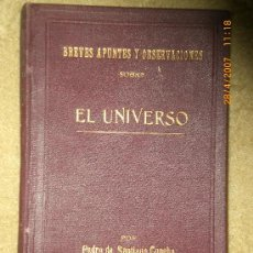 Libros antiguos: BREVES APUNTES Y OBSERVACIONES SOBRE EL UNIVERSO.. Lote 19347423