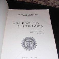 Libros antiguos: LAS ERMITAS DE CORDOBA, ANTONIO ARAGON FERNANDEZ, BARCELONA 1926. Lote 11802456