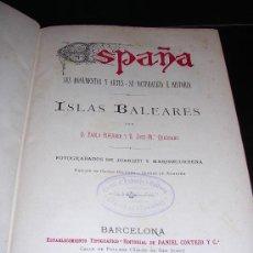 Libros antiguos: PIFERRER, PABLO Y QUADRADO, JOSÉ MARÍA (1819-1896). ISLAS BALEARES. . Lote 14040701